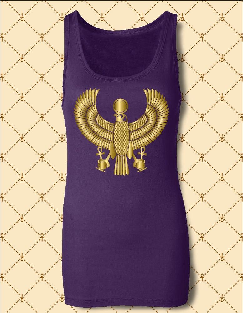 Image of Women's Custom Heru Gold Foil Tank Top