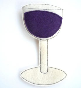 Image of Wine Glass Organic Catnip CAT TOY Handmade by Oh Boy Cat Toy