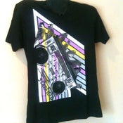 """Image of """"Bird on a Boombox"""" V-Neck T-shirt"""
