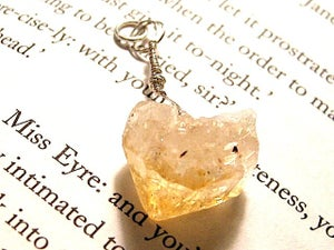 Image of Slice of Sun Raw Citrine Point Pendant
