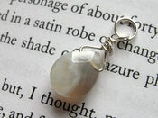 Image of Faceted Gray Agate Briolette Pendant