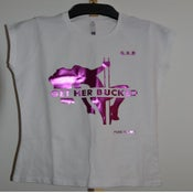 Image of Pure Flowz Apparel Female -White Tee - Pink Design