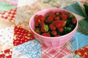 "Image of strawberries 8x12"" print"