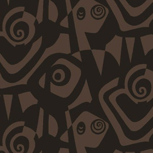 Image of Bold Expression-Printed Fabric