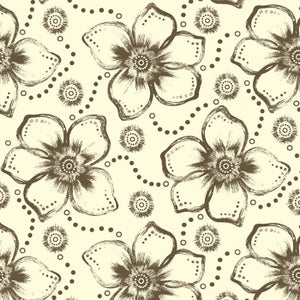 Image of Floral Expression-Printed Fabric (Light & Dark)