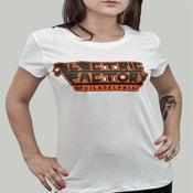 Image of Womens Philly Orange & White Tee