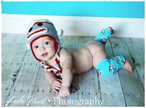 Image of READY TO SHIP Newborn to 3 Months Classic Sock Monkey Crochet Hat