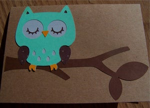 Image of Owl Handmade Notecards (Set of 2 matching cards)