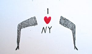 Image of I heart NY drawing by Daniel Smith