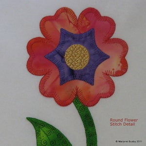 Image of Flower Applique from Accuquilt Round Flower Die