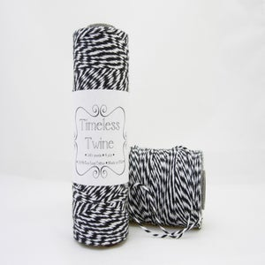 Image of Tuxedo Black Bakers Twine ~ Timeless Twine™
