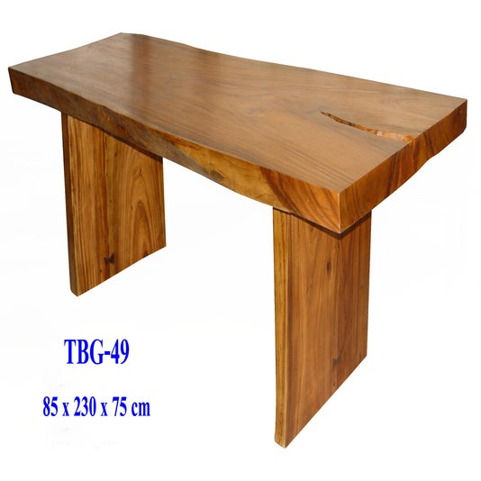 Image Of Solid Slab Wood Table Custom Sizes Styles Available Dining