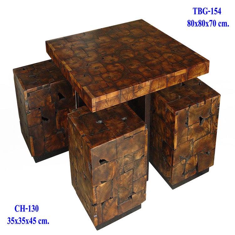 Thai Slab Furniture Teak Knot and Burl Wood Bar Cafe Set  : JigsawCoffeeSet from thaislabfurniture.bigcartel.com size 1000 x 1000 jpeg 185kB