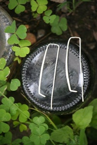 Image of wishbone earrings - Silver
