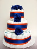 Image of 2 color  3 tier Baby Diaper Cake