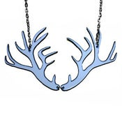 Image of Ltd. Edition Antler Shaped Necklace/Earrings cut out of a recycled vinyl record!