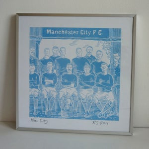 Image of Man City print
