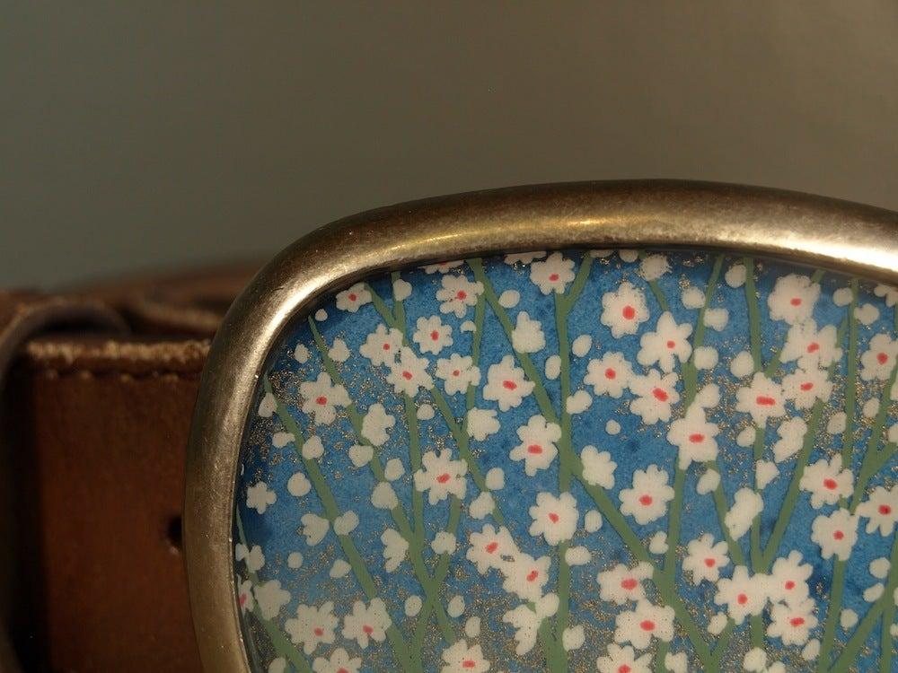 Image of Blue Daisy Belt