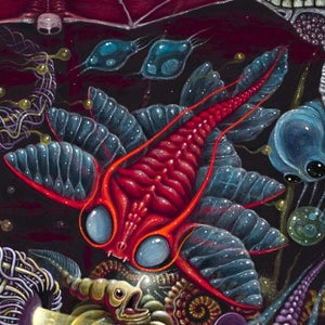 """Image of """"METAVERSE SEA""""   ~ 18 x 18"""" Open Signed Edition"""
