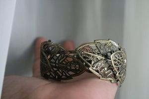 Image of Vintage Bronze Leaf Cuff