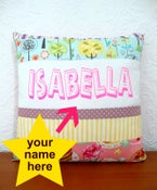 Image of personalised cushion
