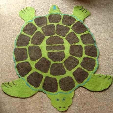ENDANGERED SPECIES: Hand Felted Turtle Rug