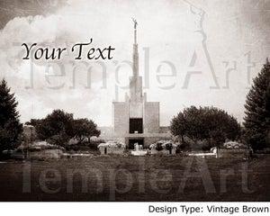 Image of Denver Colorado LDS Mormon Temple Art 001 - Personalized LDS Temple Art