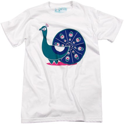 Image of 'Peacock' T-shirt by Aaron Miller