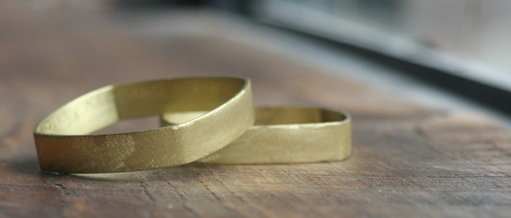 Image of Big Square brass bracelet