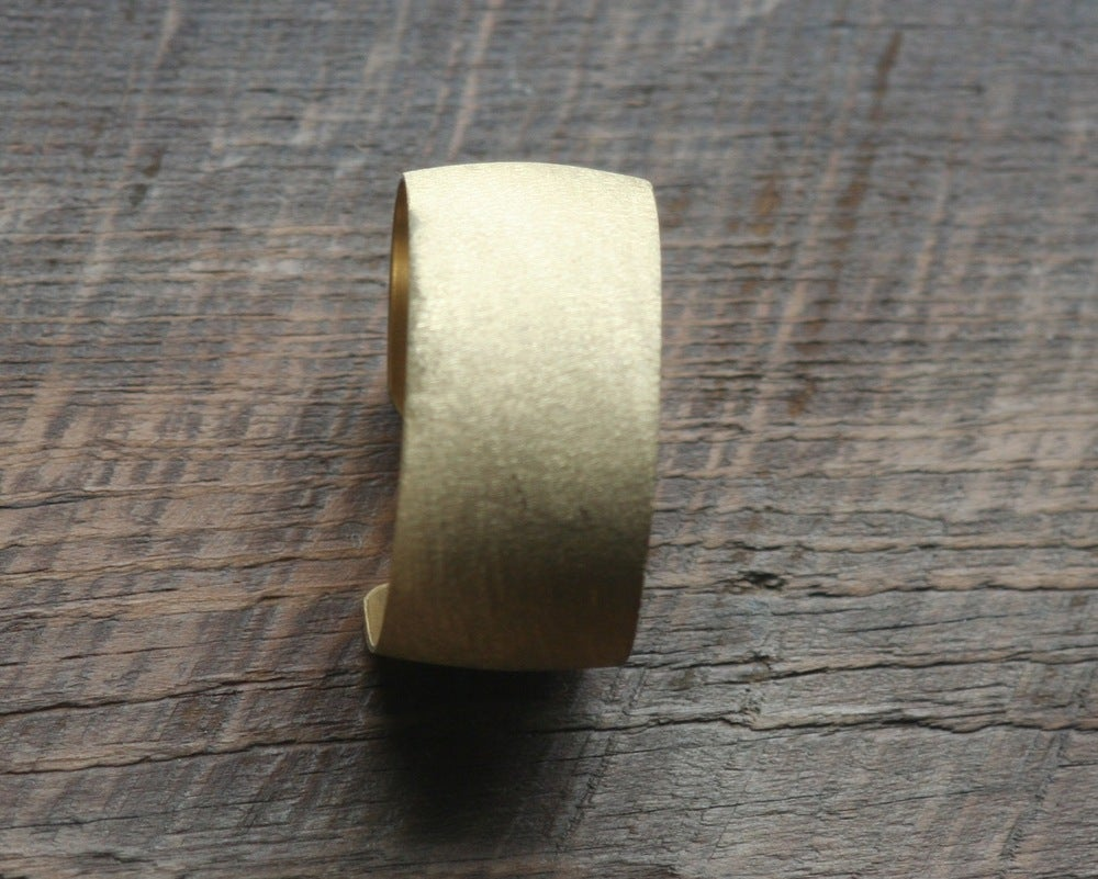 Image of Medium scratch brass cuff