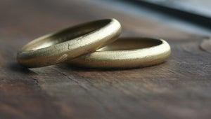 Image of Small round brass bracelet