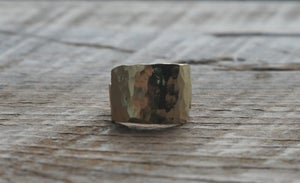 Image of Small Square forge Brass ring
