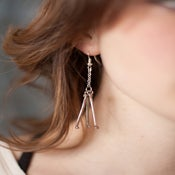 Image of Humerus Bone Earring - Triple Steel Short