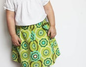 Image of Ava Pleated Skirt Boutique Style PDF Sewing Pattern in Sizes Newborn up to 14