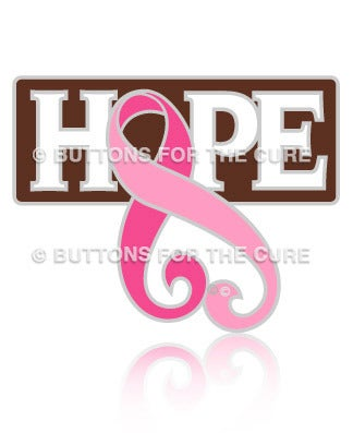 Image of Hope Pink Ribbon Lapel Pin