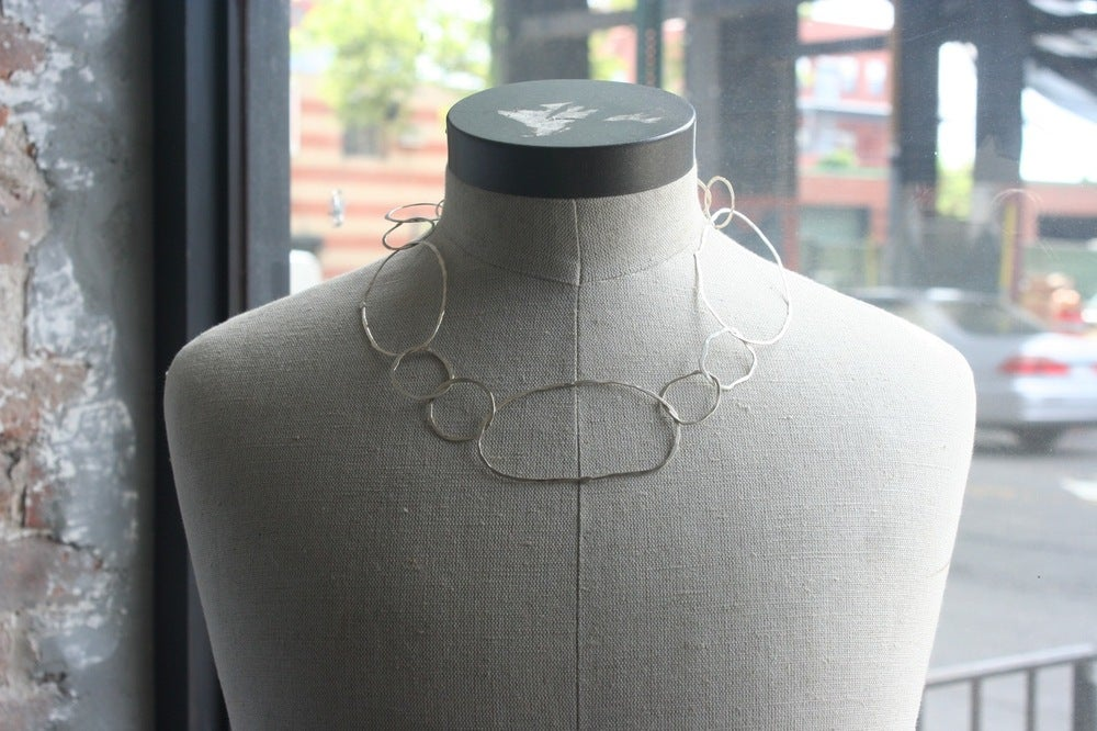 Image of Sterling silver organic shapes neckless