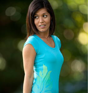 Image of BeLeaf Scoop-Neck w/key lime (turquoise)