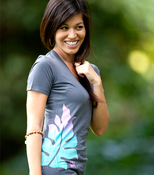 Image of BeLeaf Deep V-Neck w/purple (charcoal)