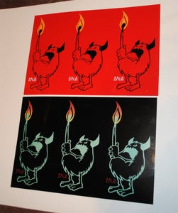 Image of Snub23 - Beast on Fire - Signed Sticker Sheet