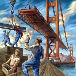 """Image of """"Building the Iron Horse"""" Limited Edition Print"""