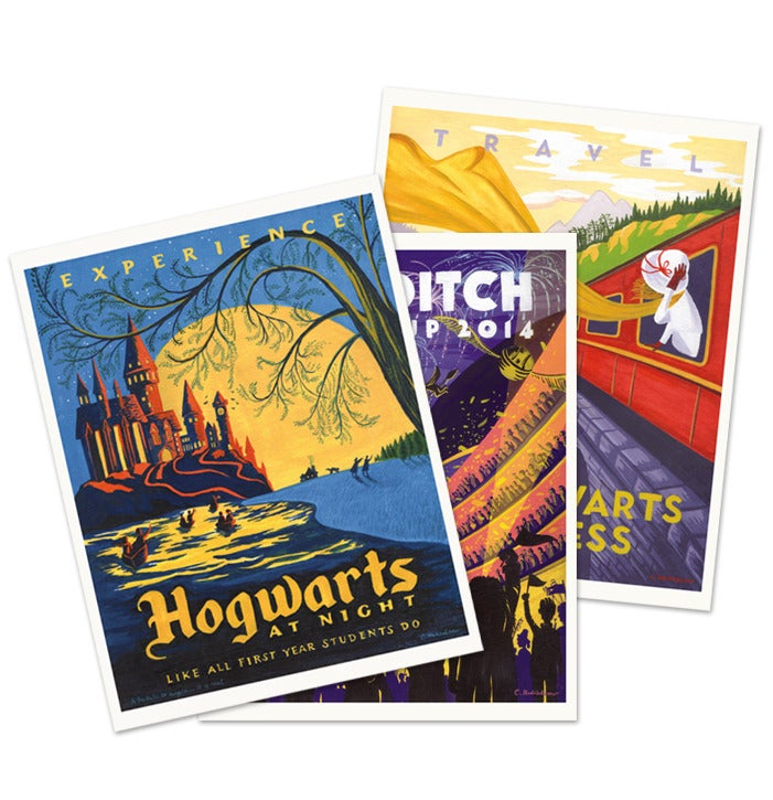 Harry Potter Book Set Big W : Caroline hadilaksono — harry potter travel postcards set