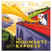 "Image of Travel with The Hogwarts Express 18""x22.5"" print"