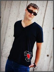 Image of Heart V Neck (Black)