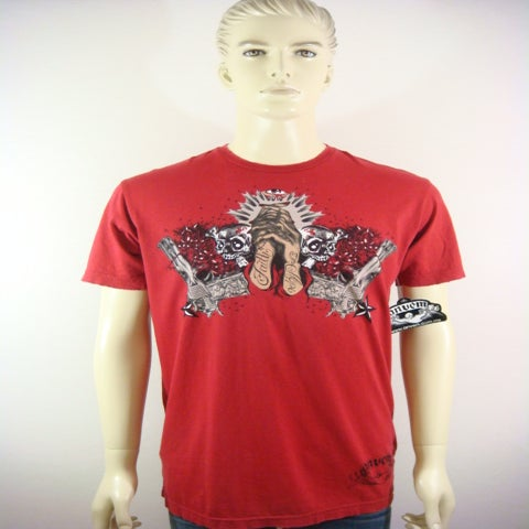 "Image of ANVEM clothing brand ""Hope N Faith"" red men shirt"