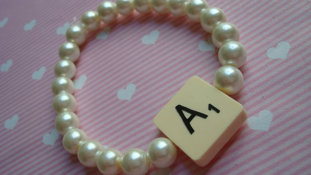 Image of Scrabble Pearl Bracelet
