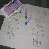 Image of James :: Colouring in Bunny