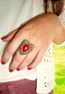 Image of Red Adjustable Ring