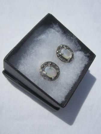 Image of Sterling Silver Marquisette Stud Earrings