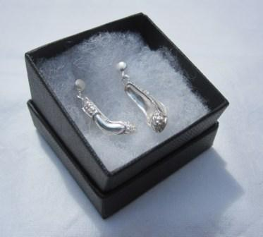 Image of Sterling Silver Shoe Earrings