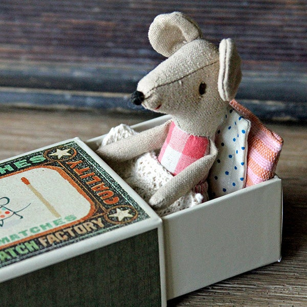 Image of Mouse Big Sister In A Matchbox